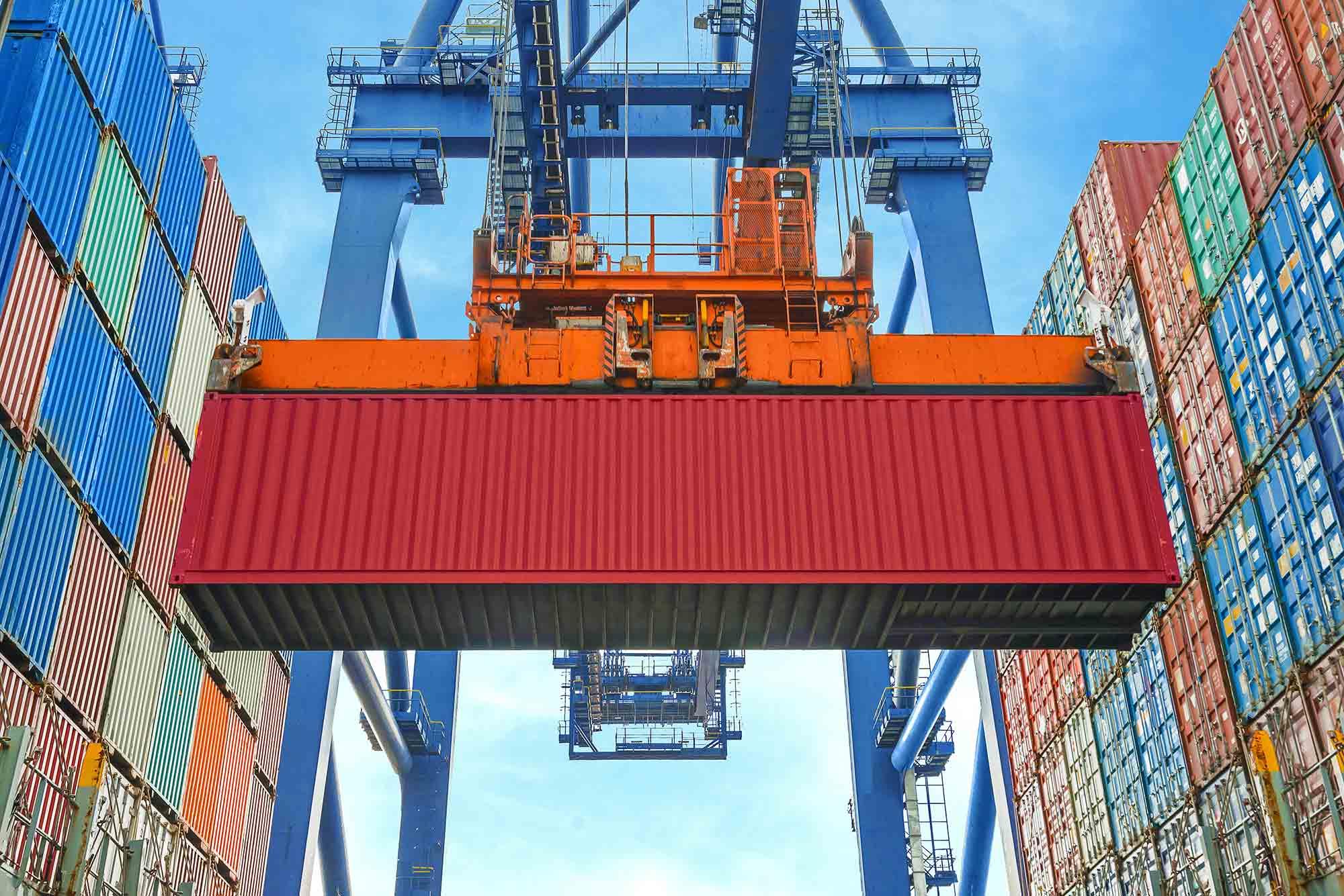 MercuryPartners - Container on a crane
